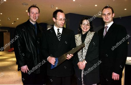 L-R: SIMON T MIDDLEHURST WITH NICK SHAW AND CHRISTINE AND TYRONE WALKER HEBBORN