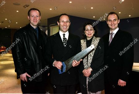 Stock Photo of L-R: SIMON T MIDDLEHURST WITH NICK SHAW AND CHRISTINE AND TYRONE WALKER HEBBORN