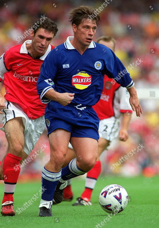 Tony Cottee (Leicester) Arsenal v Leicester City 7/8/99 Great Britain London
