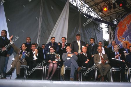 ISABEL ALLENDE WITH JACK LANG AND LEAH RABIN TAHAR BEN JELLOUN AND SHIMON PERES AND NEMER HAMMAD AND WALTER VELTRONI