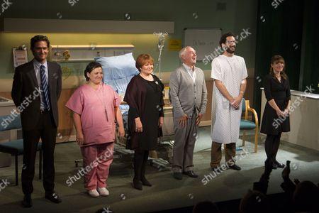 Ben Aldridge (Brian), Katy Secombe (Nurse), Ben Aldridge (Brian), Isla Blair (Rita Lyons), Nicholas Day (Ben Lyons), Tom Ellis (Curtis Lyons) and Charlotte Randle (Lisa Lyons)