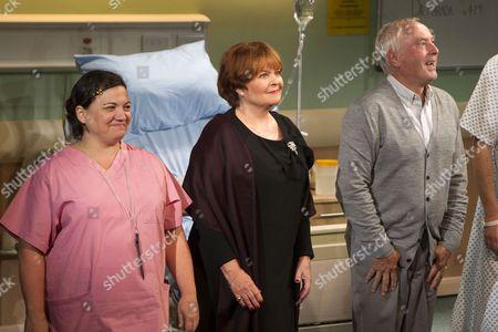 Katy Secombe (Nurse), Isla Blair (Rita Lyons) and Nicholas Day (Ben Lyons)