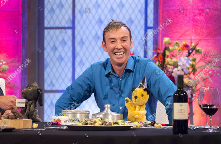 Richard Cadell with Sooty and Sweep