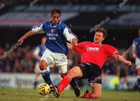 Bobby Petta (Ipswich) Ipswich Town v Barnsley 13/12/1998 Football 1998/9 Great Britain Ipswich