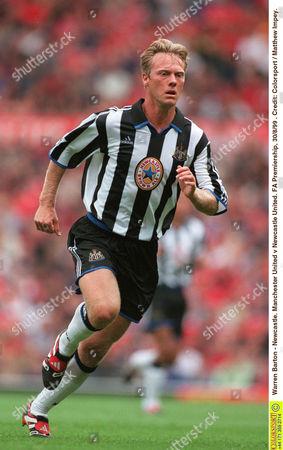 Warren Barton - Newcastle Manchester United v Newcastle United FA Premiership 30/8/99 Great Britain Manchester