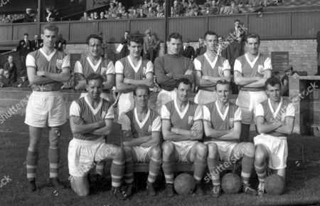 Bournemouth and Boscombe Athletic 1956/57 Back Row (L>R) A Woollard S Newsham J Arnott T Godwin P Rushworth A Keetley Front Row (L>R) O Norris P Harrison J Crosland L Melville and R Cutler Great Britain