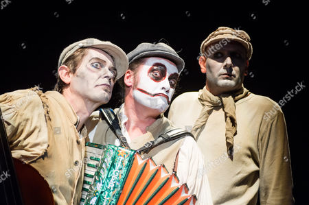 Stock Photo of The Tiger Lillies - Adrian Stout, Martyn Jacques and Mike Pickering