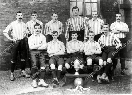 Sheffield United FA Cup Winners 1898/99 Back Row (L>R) G Hedley W Beers H Thickett W Foulke J Almond P Boyle Front Row (L>R) N Bennett W Johnson E Needham (Capt) T Morren and A Priest Great Britain