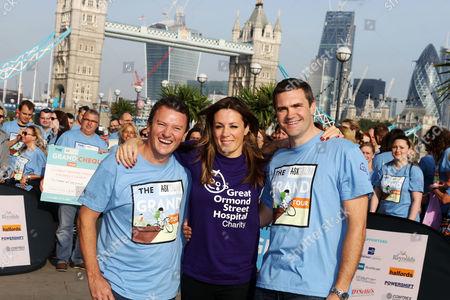 Theo Randall, Natalie Pinkham and Steve Holmes