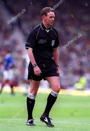 Hugh Dallas Referee Rangers v Celtic Scottish FA Cup Final Hampden Park Glasgow 29/05/1999 Great Britain Glasgow