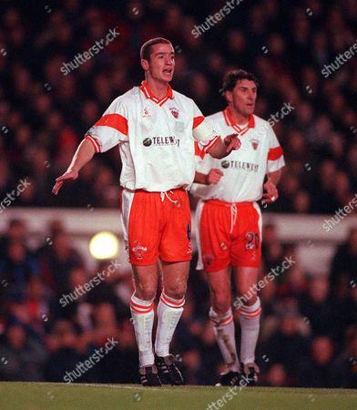 Ian Hughes (Blackpool) Arsenal v Blackpool FA Cup 3rd Round 13/12/1999 Great Britain London