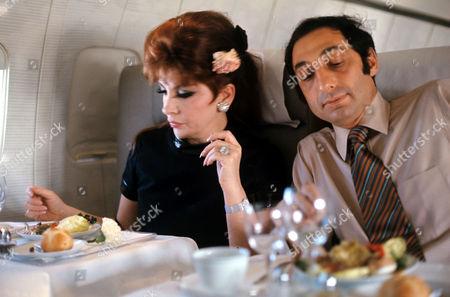 Stock Photo of Gina Lollobrigida and George Kaufman
