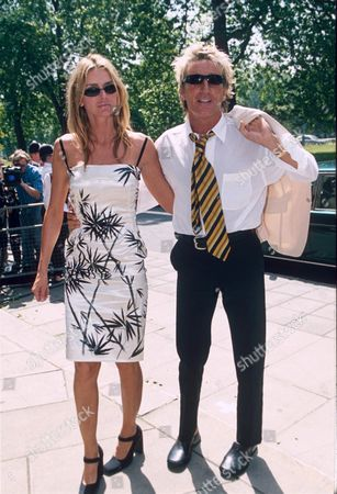 Stock Picture of ROD STEWART AND KIMBERLEY CONRAD
