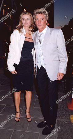 Editorial photo of ROD STEWART AND KIMBERLEY CONRAD IN LONDON, BRITAIN - 1999