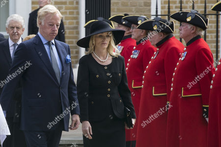 Stock Photo of Mark Thatcher and wife Sarah Thatcher