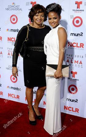 Christina Milian & mother Carmen Flores
