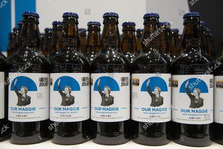 Bottles of beer featuring Margaret Thatcher