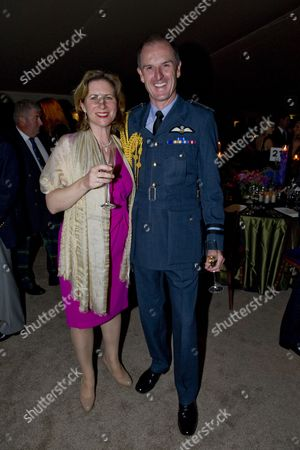Stock Picture of Air Commodore Gerry Mayhew and wife