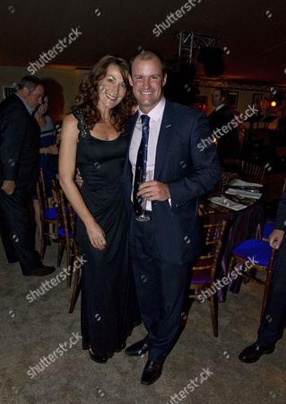 Stock Image of Andrew Strauss and wife Ruth MacDonald