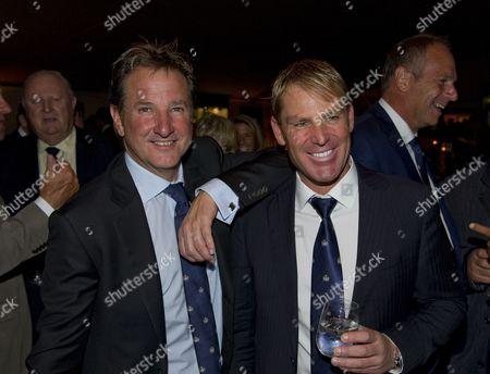 Mark Nicholas and Shane Warne