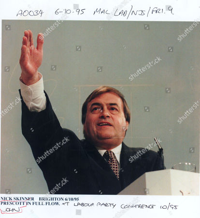 Jon Prescott Labour Mp Speaking At The Labour Party Conference In Brighton 1995.