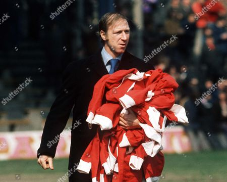 Jack Charlton the Middlesbrough Manager with his players tracksuit tops Middlesbrough v Carlisle United 6/4/74 Great Britain Middlesbrough