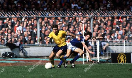 Malcolm MacDonald (Arsenal) George Burley (Ipswich town) FA Cup Final 1978 atWembley Great Britain London