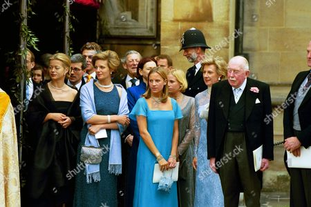 Stock Picture of LADY HELEN WINDSOR, JULIA OGILVY, ANGUS OGILVY, MARINA OGILVY AND DUCHESS OF GLOUCESTER