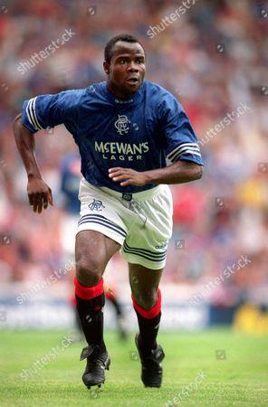 Basile Boli (Rangers) Glasgow Rangers v Manchester United International Tournament 6/8/94 Credit : Andrew Cowie/Colorsport Rangers v Manchester United
