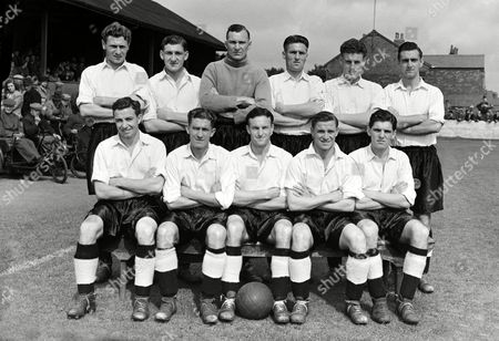 Gateshead Football Club 1953/54 Southport v Gateshead 28/8/53 Back row L to R J Callender R Cairns R Gray T Callender W Brown P Hewson Front row : L E Price J Ingham G Wilbert E Johnson T Watkins Great Britain Southport