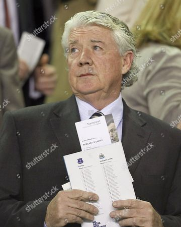 Stock Image of Newcastle United director of football Joe Kinnear looks on from the stand