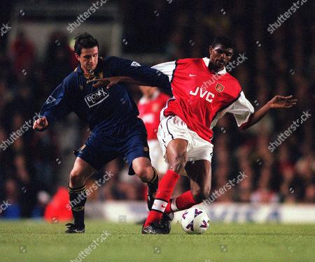 Kanu (Arsenal) Stewart Castledine (Wimbledon) Arsenal 5:1 Wimbledon 19/4/99 Great Britain London