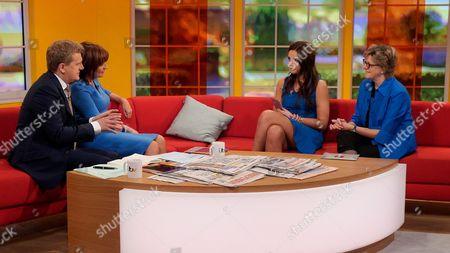 Aled Jones and Lorraine Kelly with Kelsey Beth Crossley and Sally Davies