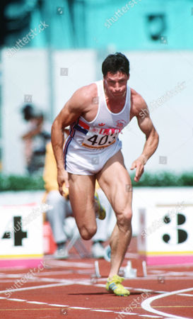 Alan Wells (GBR) Mens 100m Heats 1984 Los Angeles Olympics USA Los Angeles