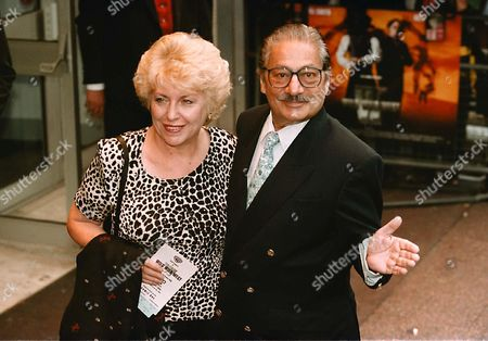 LONDON PREMIERE OF 'WILD, WILD, WEST'. SAEED JAFFREY AND HIS WIFE.