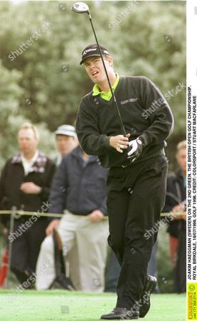 JOAKIM HAEGGMAN (SWEDEN) ON THE 2ND GREEN THE BRITISH OPEN GOLF CHAMPIONSHIP ROYAL BIRKDALE 16/07/1998 GOLF 1998 Great Britain Southport
