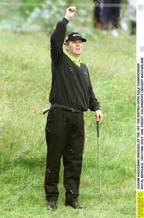 JOAKIM HAEGGMAN (SWEDEN) AT THE 1ST THE BRITISH OPEN GOLF CHAMPIONSHIP ROYAL BIRKDALE 16/07/1998 GOLF 1998 Great Britain Southport