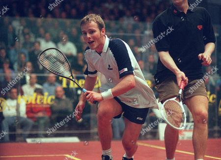 Peter Nicol - Scotland Squash Super Series Finals Broadgate 10/5/99 Great Britain London