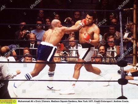 Stock Photo of Muhammad Ali v Ernie Shavers Madison Square Gardens New York 1977 Ali v Shavers (New York)