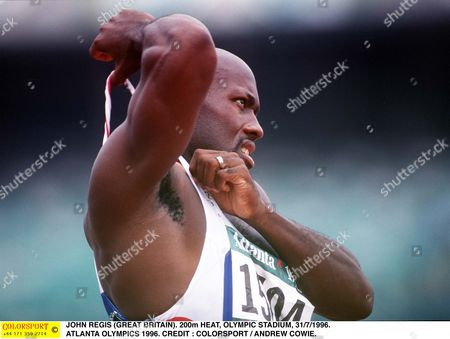 JOHN REGIS (GREAT BRITAIN) 200m HEAT OLYMPIC STADIUM 31/7/1996 ATLANTA OLYMPICS 1996 USA Atlanta