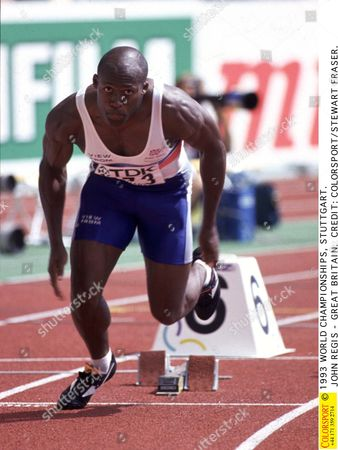 1993 WORLD CHAMPIONSHIPS STUTTGART JOHN REGIS - GREAT BRITAIN 1993 World Championships