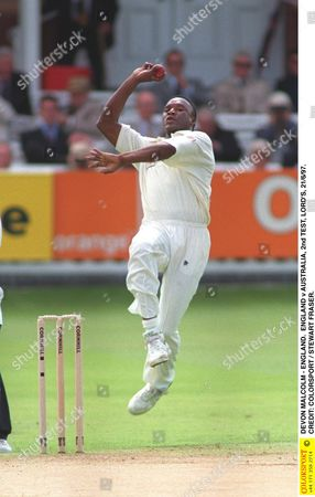 DEVON MALCOLM - ENGLAND ENGLAND v AUSTRALIA 2nd TEST LORD'S 21/6/97 Great Britain London