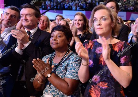 Steve Coogan, Feargal Sharkey, Doreen Lawrence and Ed's wife Justine Thornton