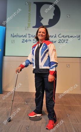 London  UK  24/09/2012 London 2012 Martine Wright Paralympic Sitting Vollyball Athlete Who Was A Victim Of The 7/7 London Bombings In 2006 Is Presenting Some Of The Awards At Thethe National Diana Award Ceremony Barclays Building Canary Wharf London.