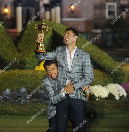 Editorial picture of Graham Mcdowell And Martin Kaymer Ryder Cup Medinah Usa Sunday Final Round. Picture Graham Chadwick.