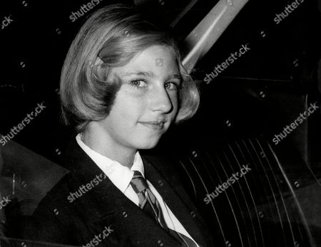 Editorial image of Princess Irina Of Romania On Her First Day At An English School.