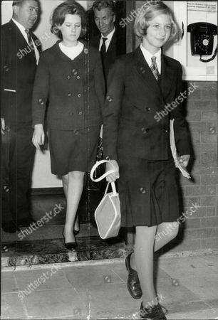 Princess Irina Of Romania Arriving A Heathrow To Start School In England.
