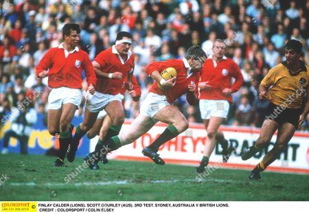 FINLAY CALDER (LIONS) SCOTT GOURLEY (AUS) 3RD TEST SYDNEY AUSTRALIA V BRITISH LIONS 15/07/1989 Australia
