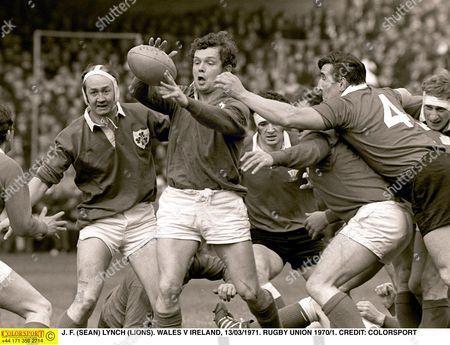 J F (SEAN) LYNCH (LIONS) WALES V IRELAND 13/03/1971 RUGBY UNION 1970/1 Great Britain Cardiff
