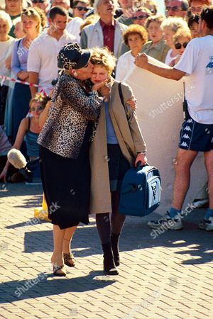 Editorial image of JULIE GOODYEAR FILMING CORONATION STREET - 1999